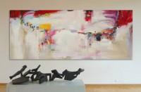 """""""I have a dream"""", 2.5x1m, technique mixte, peinture originale créée pour le projet """"Royal Caribbean Ovation"""""""